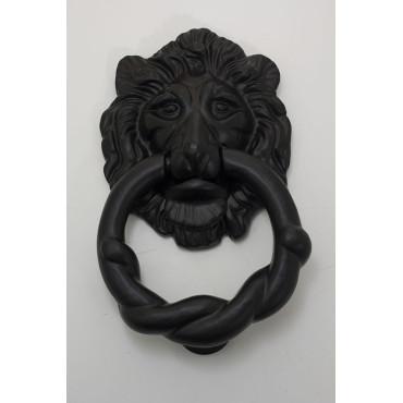 Dørhammer løvehovede - jern sort behandlet