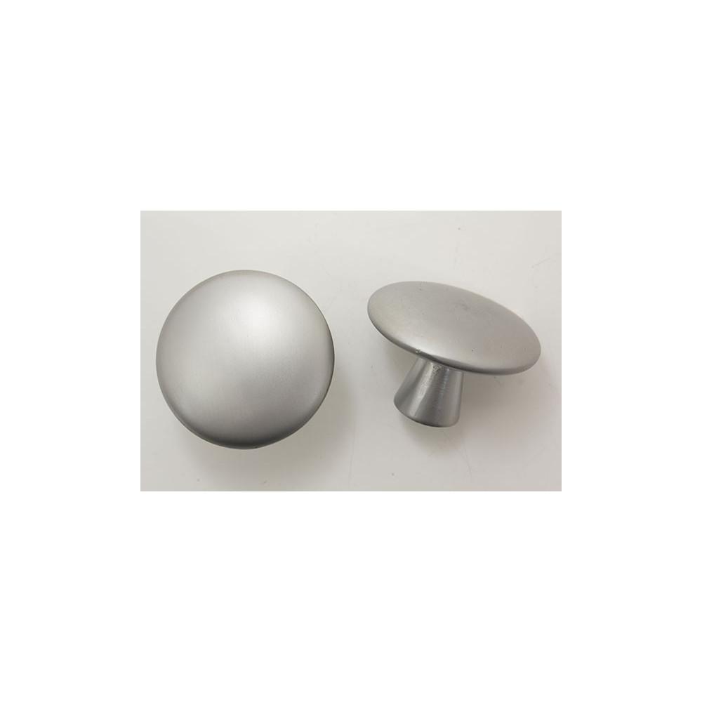 Knopgreb i mat aluminium - Ø 45x30.