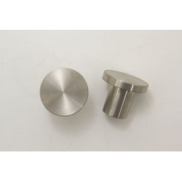 Møbelknop i rustfri ædelstål - Ø 25x22mm.