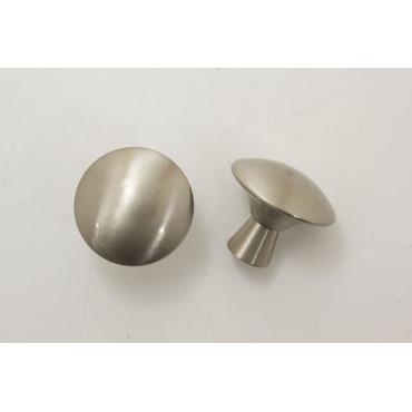 Knopgreb børstet stål - Ø 25x25mm.