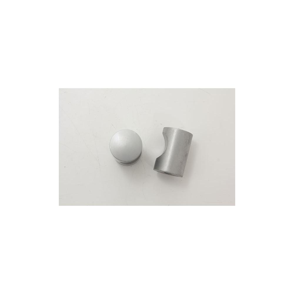 Knopgreb i mat chrom - Ø 16x25mm.