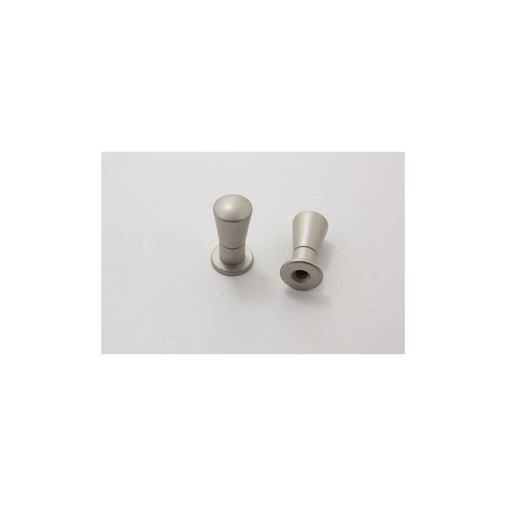 Knopgreb i mat chrom - Ø 11x22mm.
