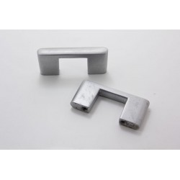 Bøjlegreb i mat aluminium