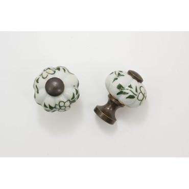 Flot lille porcelænsknop