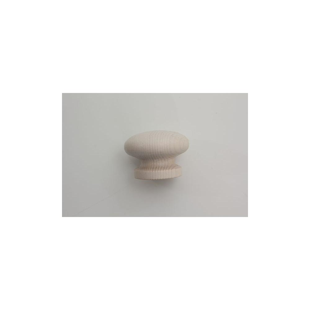 Træknop - hvid lud