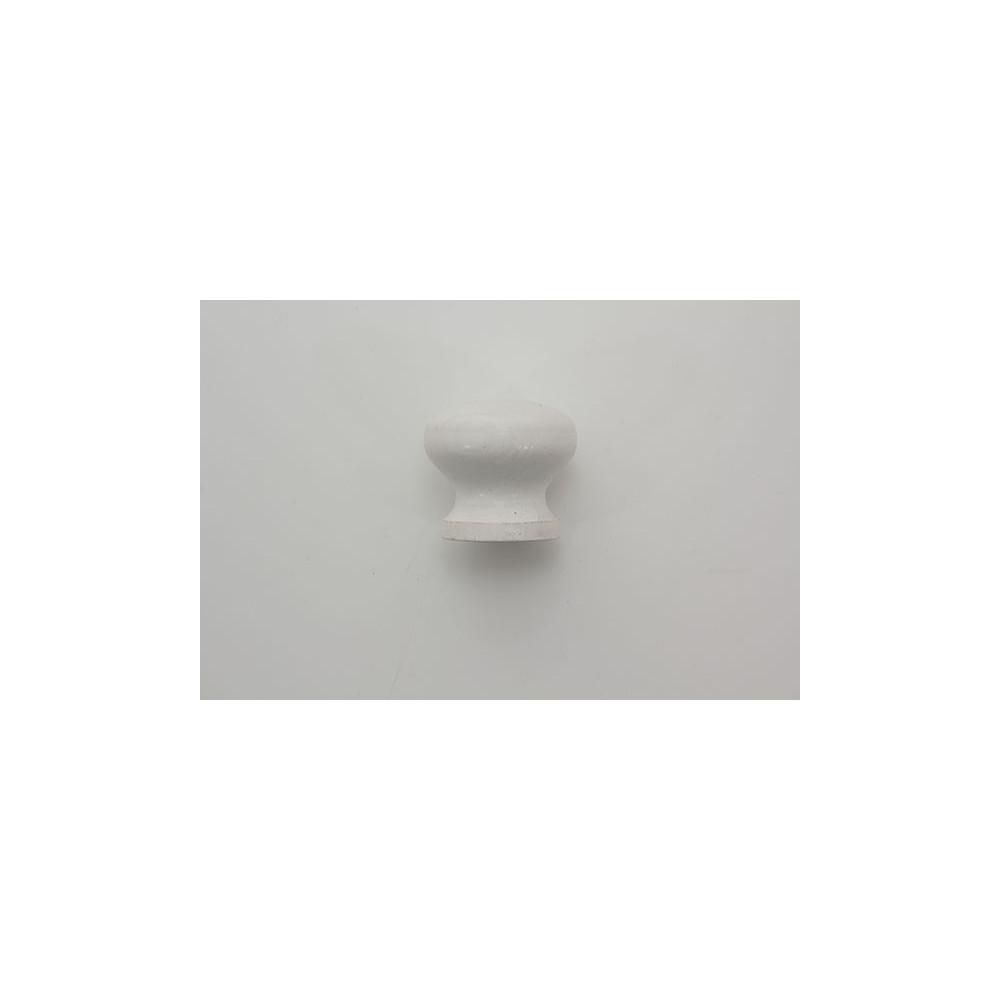 Træknop - hvid lud - 30 mm