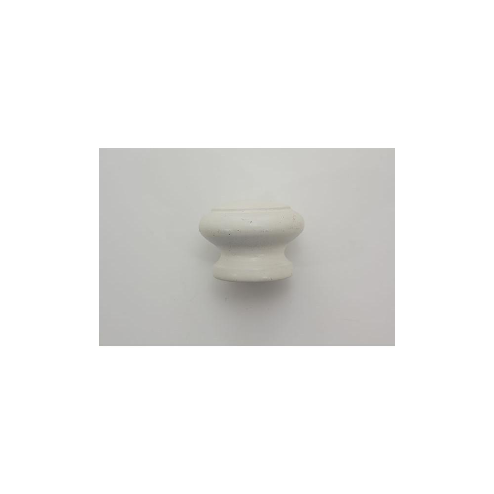 Træknop med rille - hvid lakeret