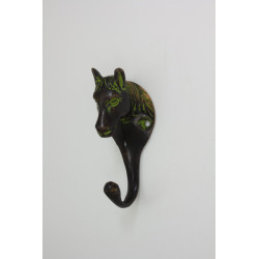 Lille hestehovede knage - irgrøn patinering