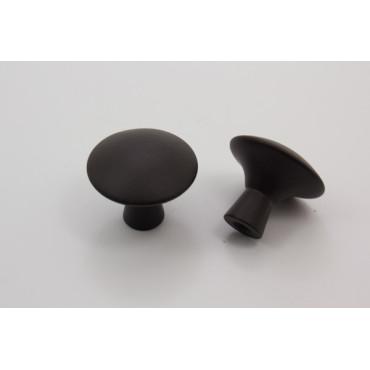 Knopgreb - mat sort zink