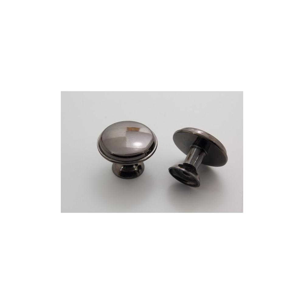 Knopgreb - sortoxyderet - 28 mm