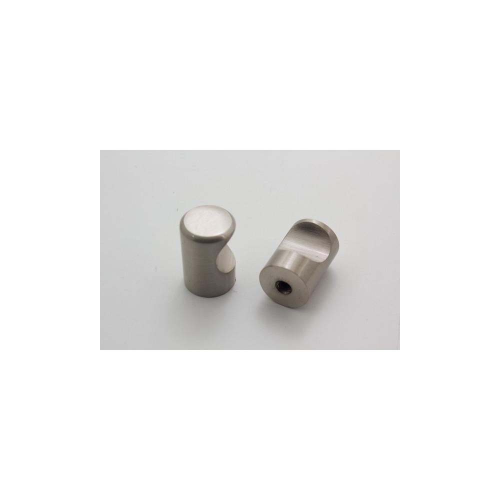 Knopgreb - børstet stål