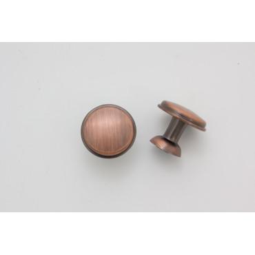 Knopgreb - antik børstet kobber look - 24 mm