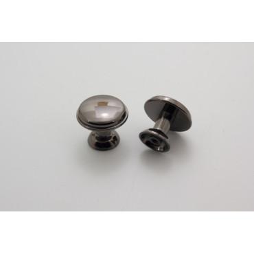 Knopgreb - sortoxyderet - 24 mm