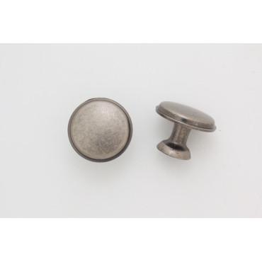 Knopgreb - antik zink - 28 mm