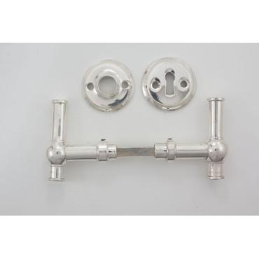 T-dørgreb - sølv look