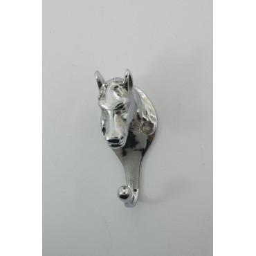 Lille hestehovede knage i blank chrome