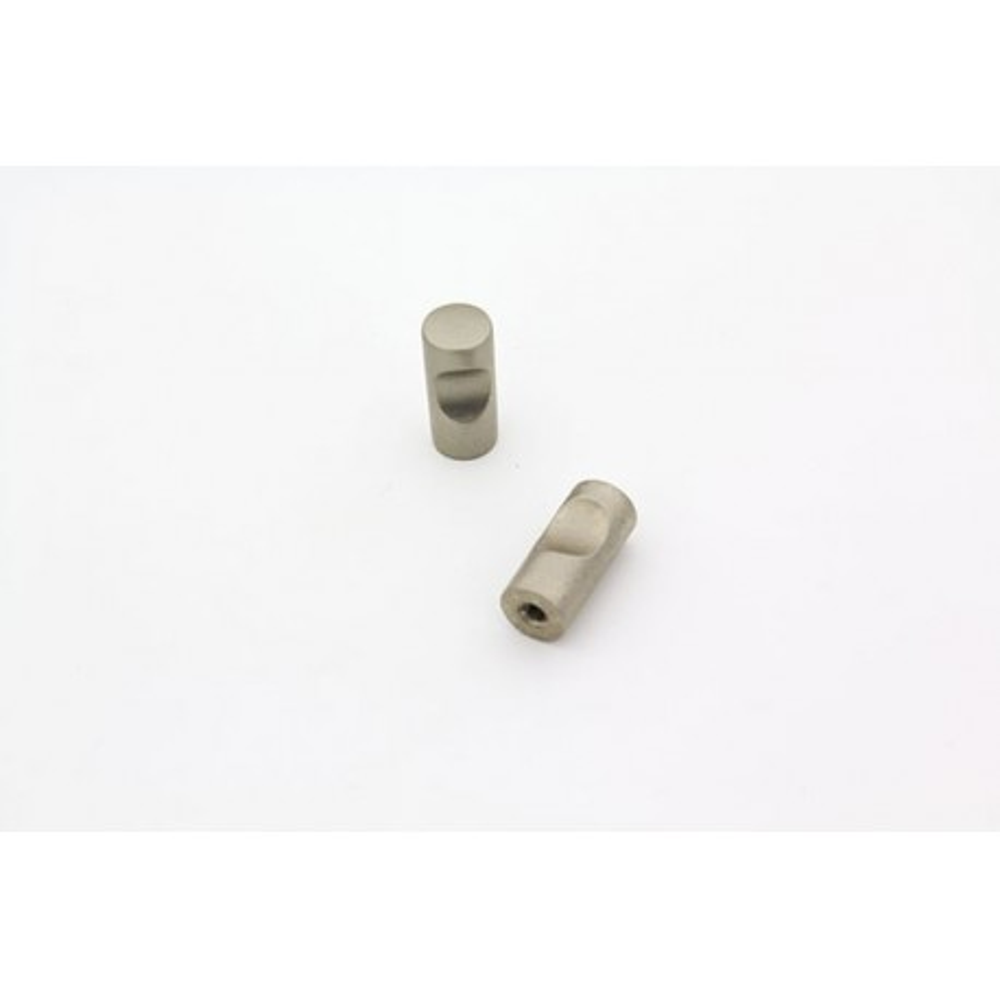 Knopgreb i halv blank chrom - Ø12x27mm