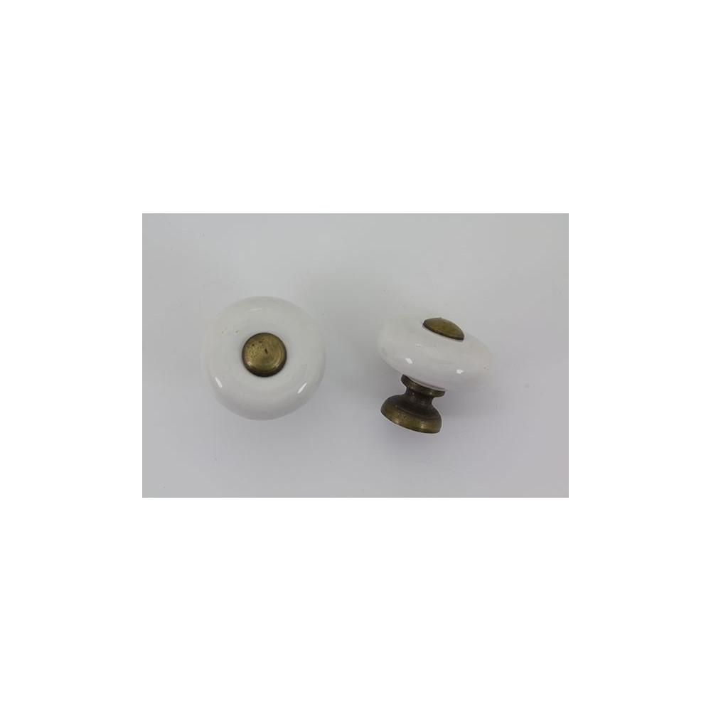 Lille porcelænsknop med antik look